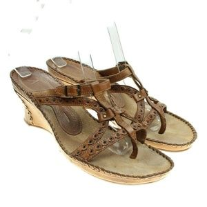 CLARKS Artisan Womens Leather Strappy Sandals